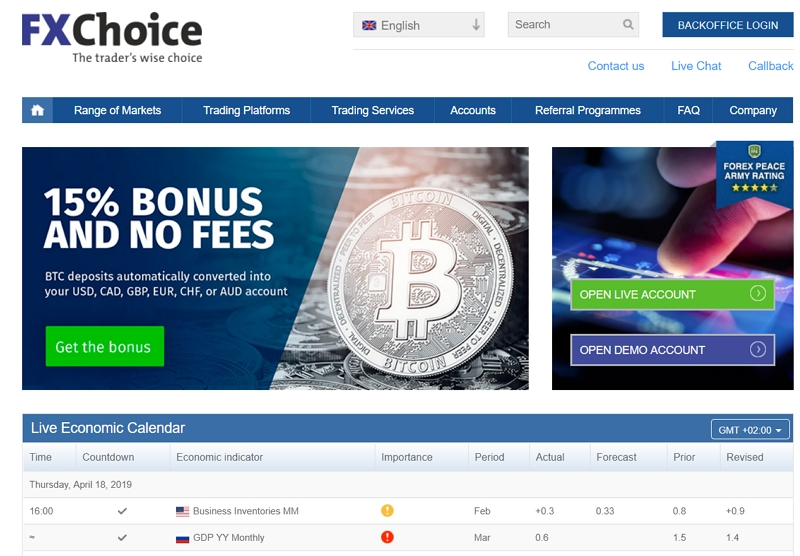 FX Choice - сайт